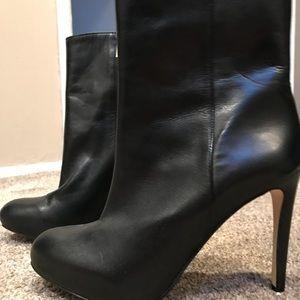 Louise et cie platform booties black leather